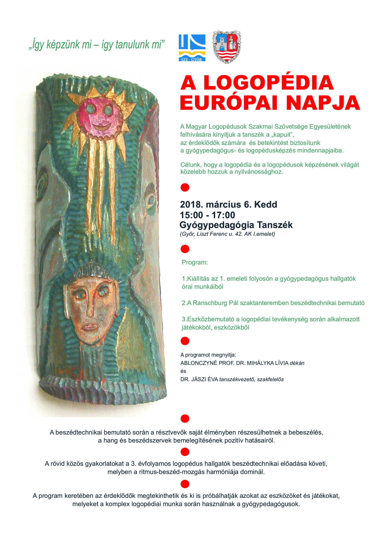 A LOGOPÉDIA EURÓPAI NAPJA 2018